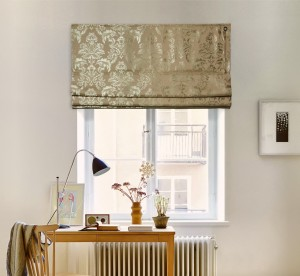 шторы на окне - соло вензель золотой V3
